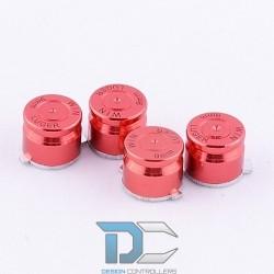 PS4 Aluminiowe przyciski do pada Red