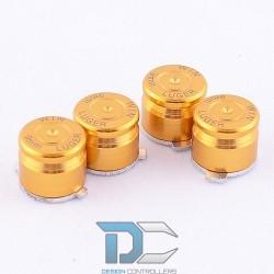 PS4 Aluminiowe przyciski do pada Gold