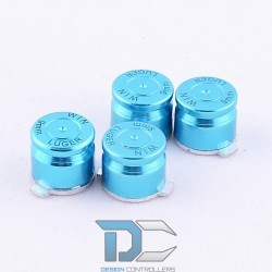 PlayStation 4 / PlayStation 3 Aluminiowe przyciski do kontrolera Lignt Blue