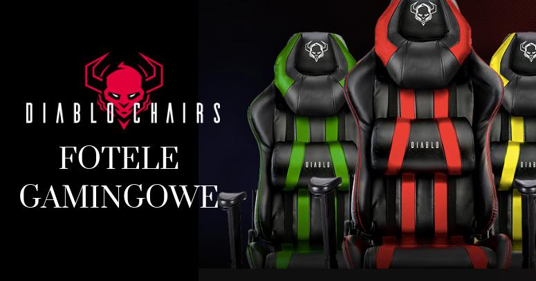 NOWOŚĆ ! Fotele gamingowe Diablo Chair
